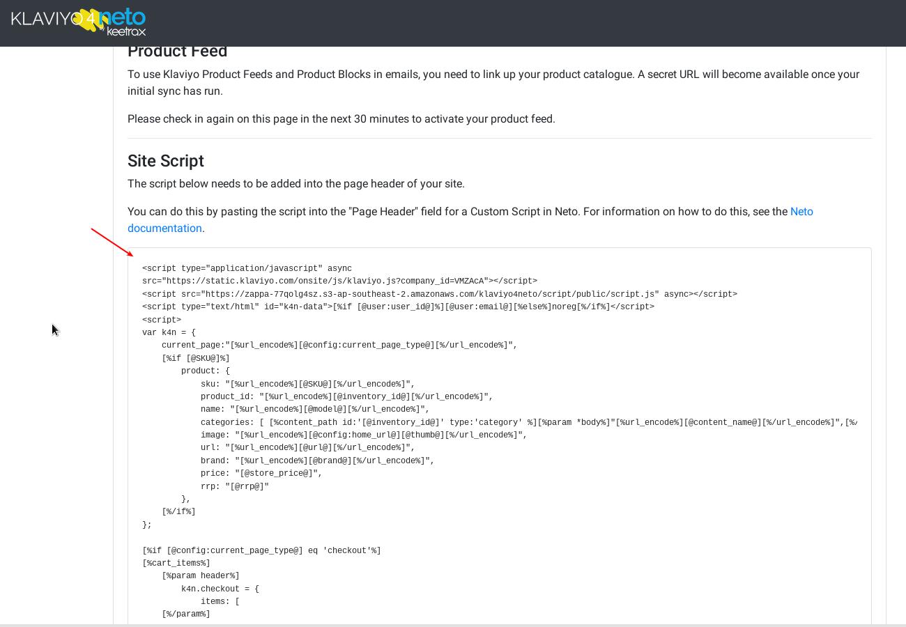 Install Analytics Script
