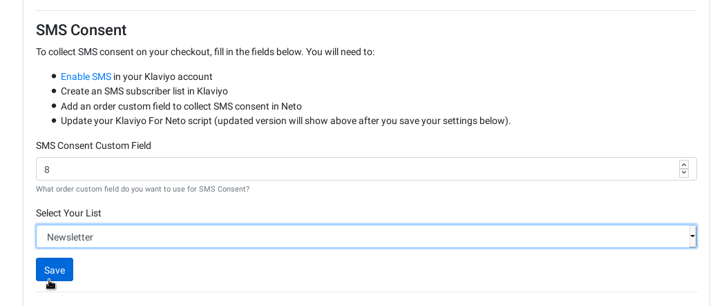 Collect SMS consent on checkout 12
